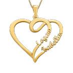 Koppel Hart Ketting in 14k Goud – Mijn Eeuwige Liefde Collectie