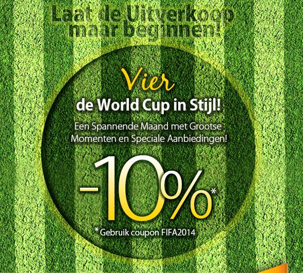 Vier de Wereld Cup in Stijl met 10% Korting