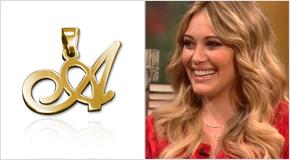 Hilary Duff met Gouden Initiaal Ketting