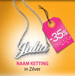 Shop de Naam Ketting in Zilver