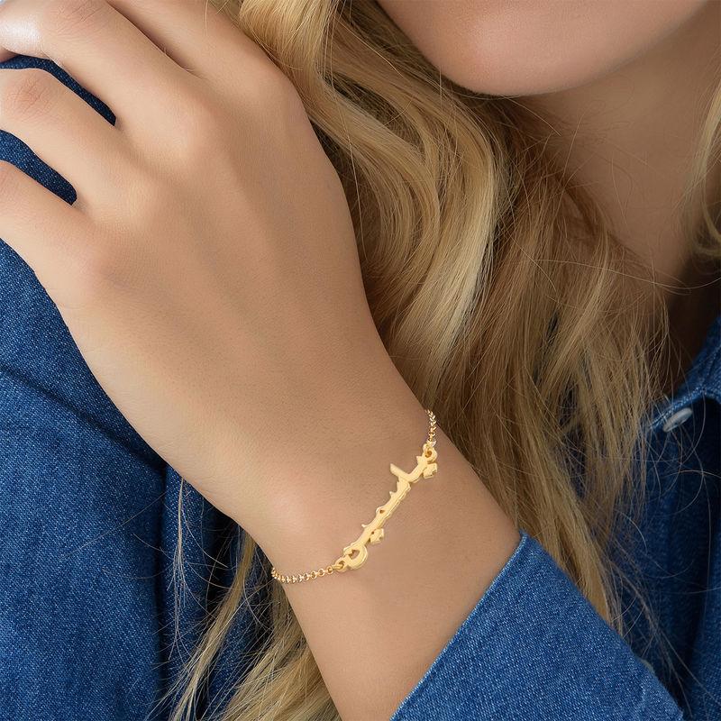 Arabisk armbånd med navn/ Ankelkjede gullforgylt - 3