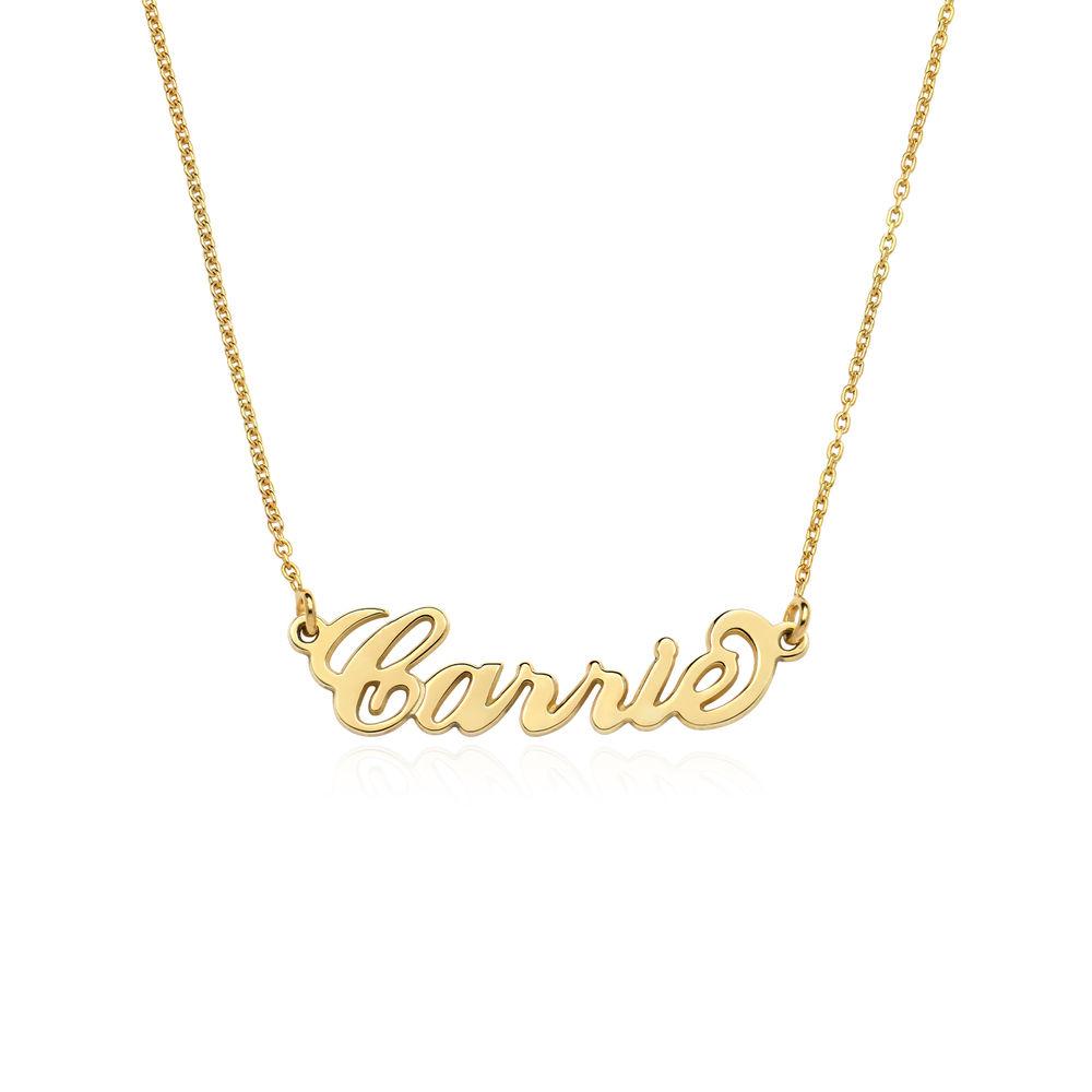 """Lite """"Carrie""""-navnesmykke i gull-vermeil sølv"""
