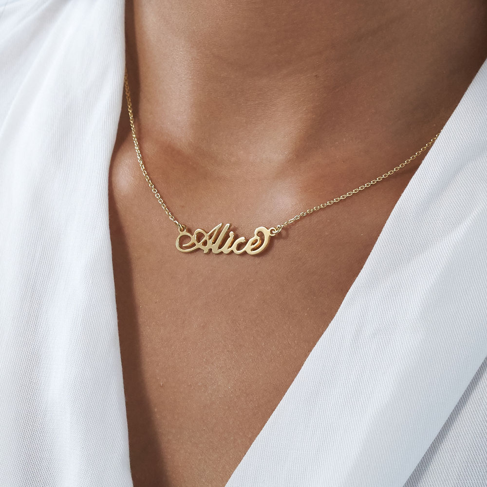 """Lite """"Carrie""""-navnesmykke i gull-vermeil sølv - 3"""