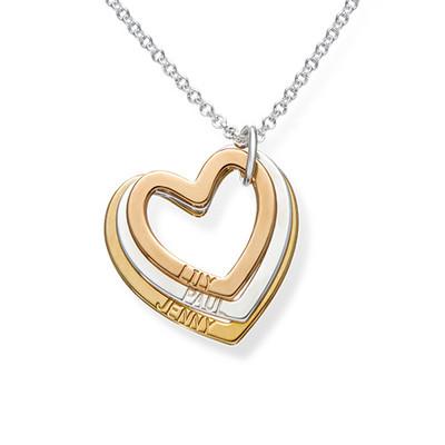 Flertonet trippelt hjerte smykke