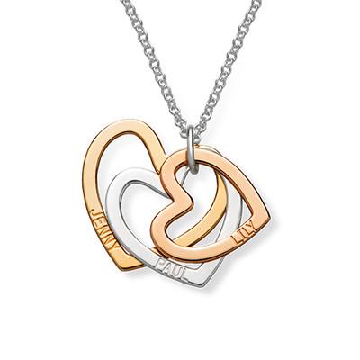 Flertonet trippelt hjerte smykke - 1