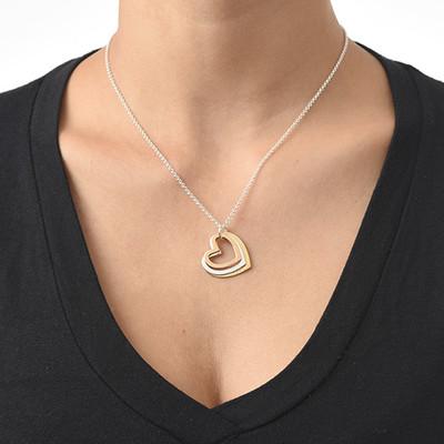 Flertonet trippelt hjerte smykke - 2