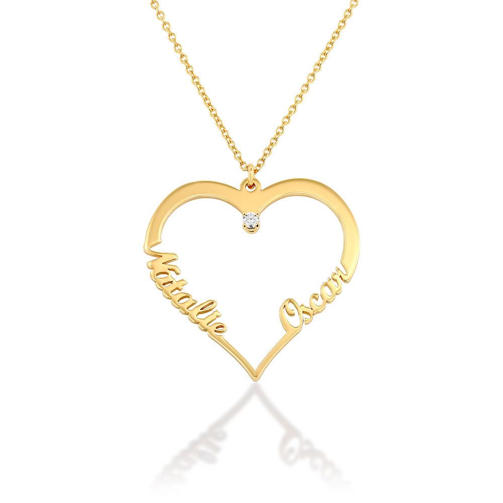 Diamant hjerte smykke i gull vermeil - Yours Truly-kolleksjonen