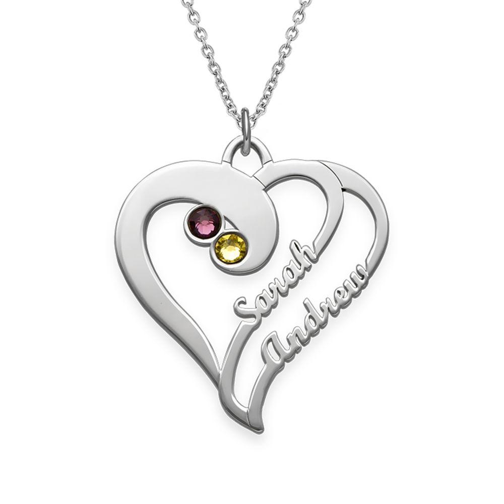 2 Hjerter for alltid Ett med Månedssteiner – Kolleksjonen Evig kjærlighet