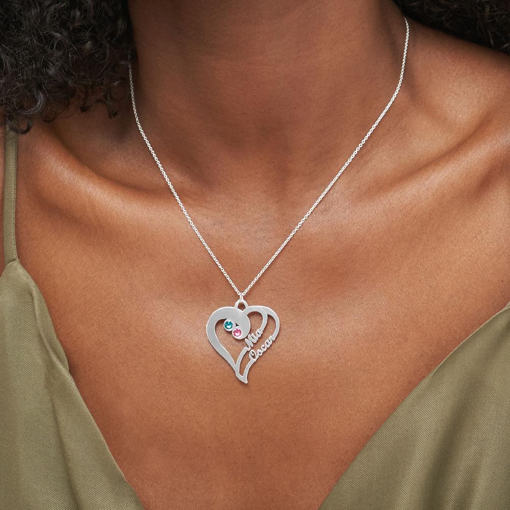 2 Hjerter for alltid Ett med Månedssteiner – Kolleksjonen Evig kjærlighet - 3
