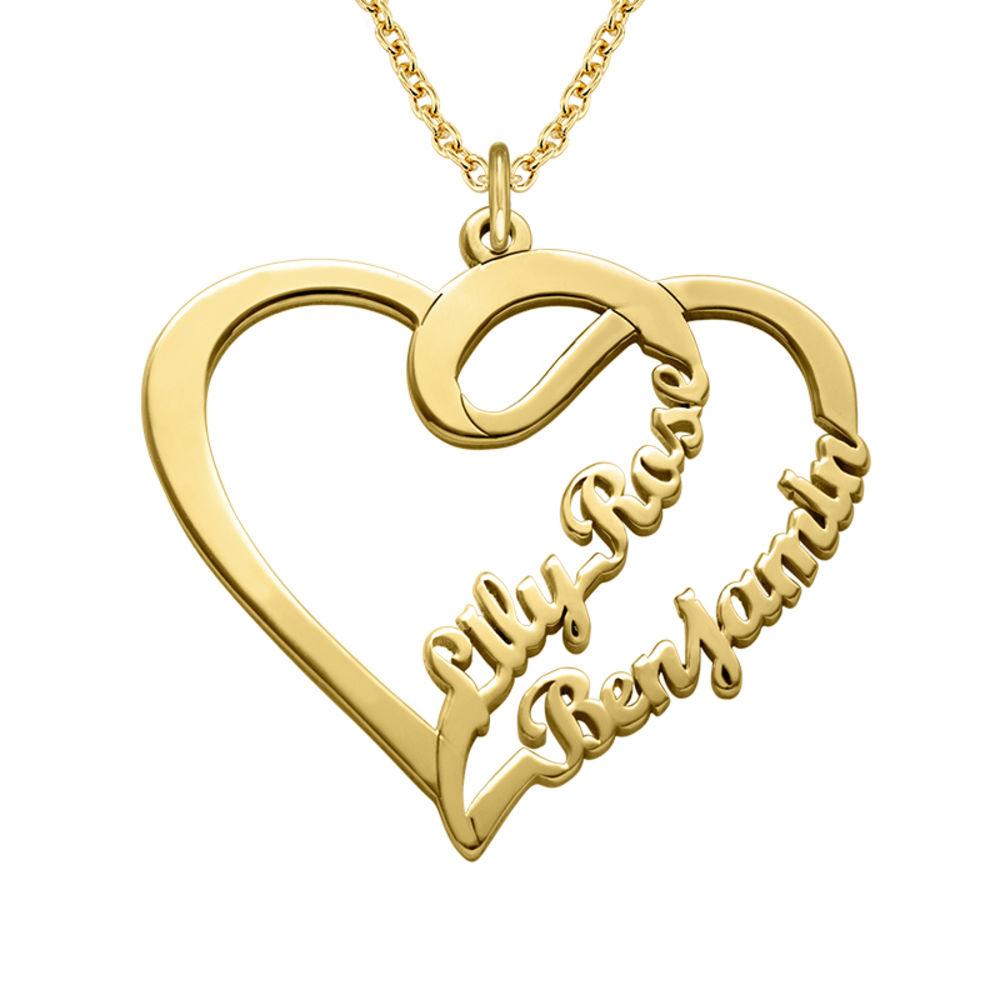 Hjerte smykke for par med gullbelegg - Yours Truly-kolleksjonen