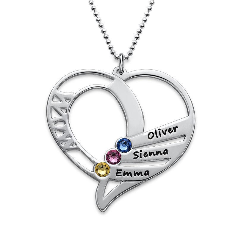Hjerteformet Månedssteinsmykke - Kolleksjonen Evig kjærlighet - 1