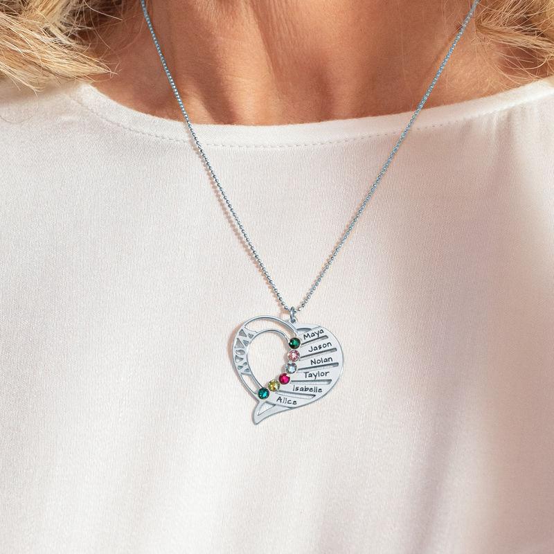 Hjerteformet Månedssteinsmykke - Kolleksjonen Evig kjærlighet - 5
