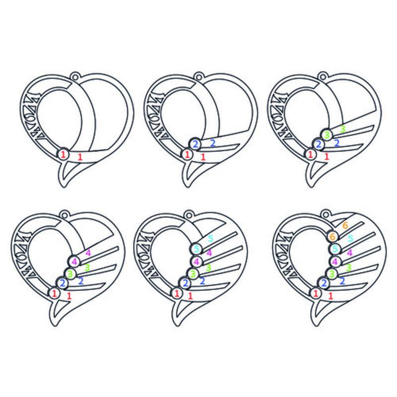 Hjerteformet Månedssteinsmykke - Kolleksjonen Evig kjærlighet - 8
