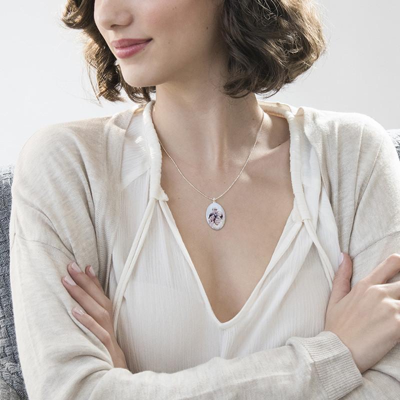Ovalt halskjede med bilde - 2