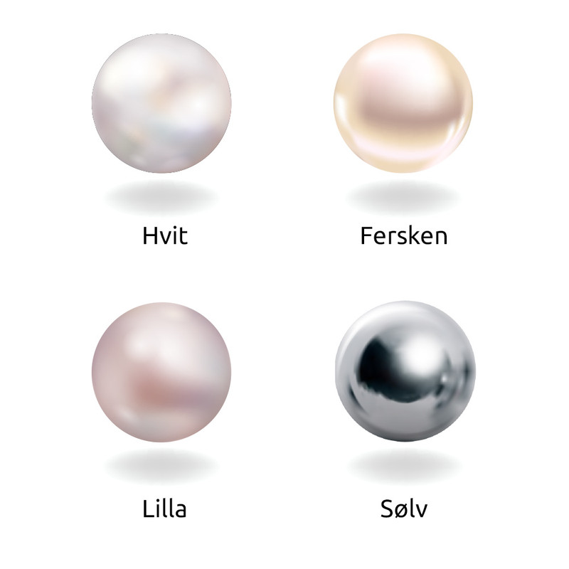 Bokstav halskjede med perle og rosa sjarm - 2