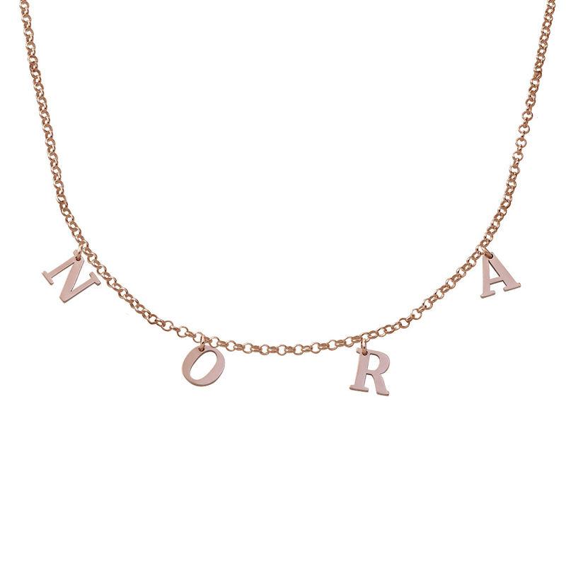 Choker-smykke med bokstav i 18K rosegullbelegg
