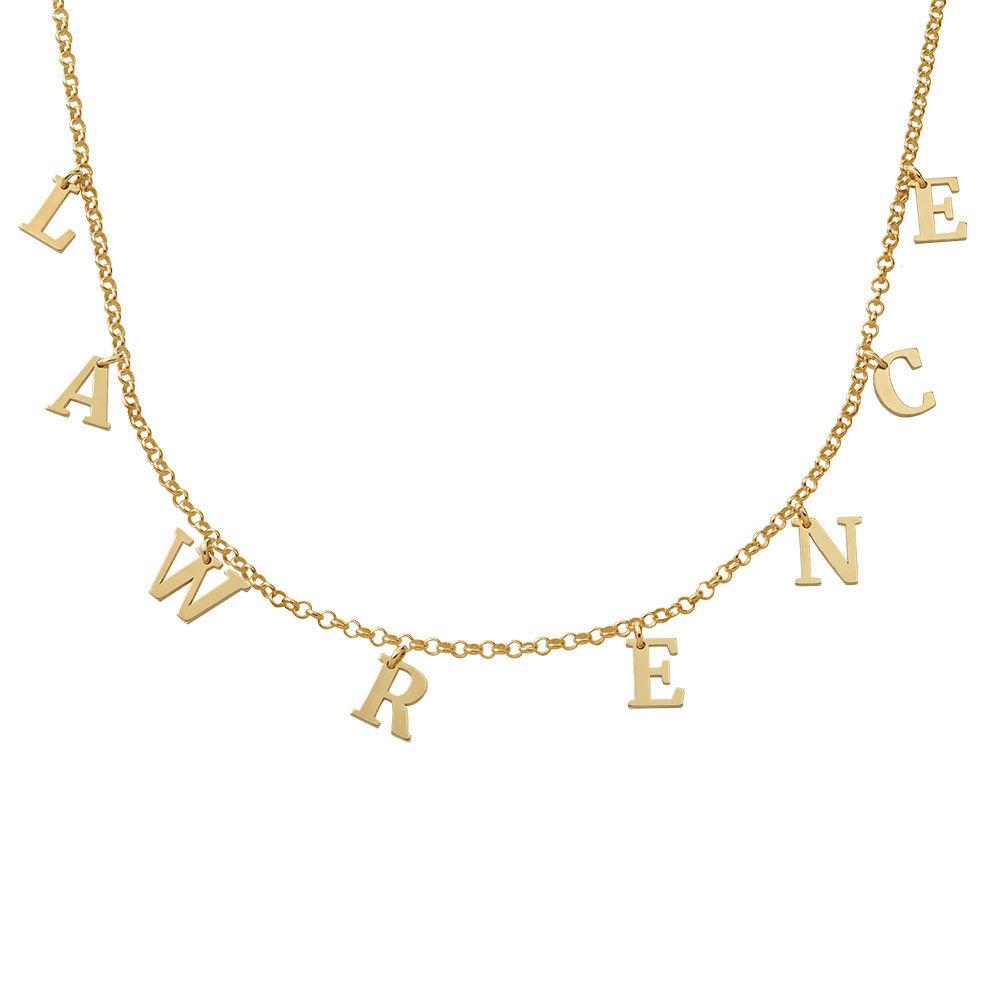 Choker-smykke med bokstav gull-vermeil