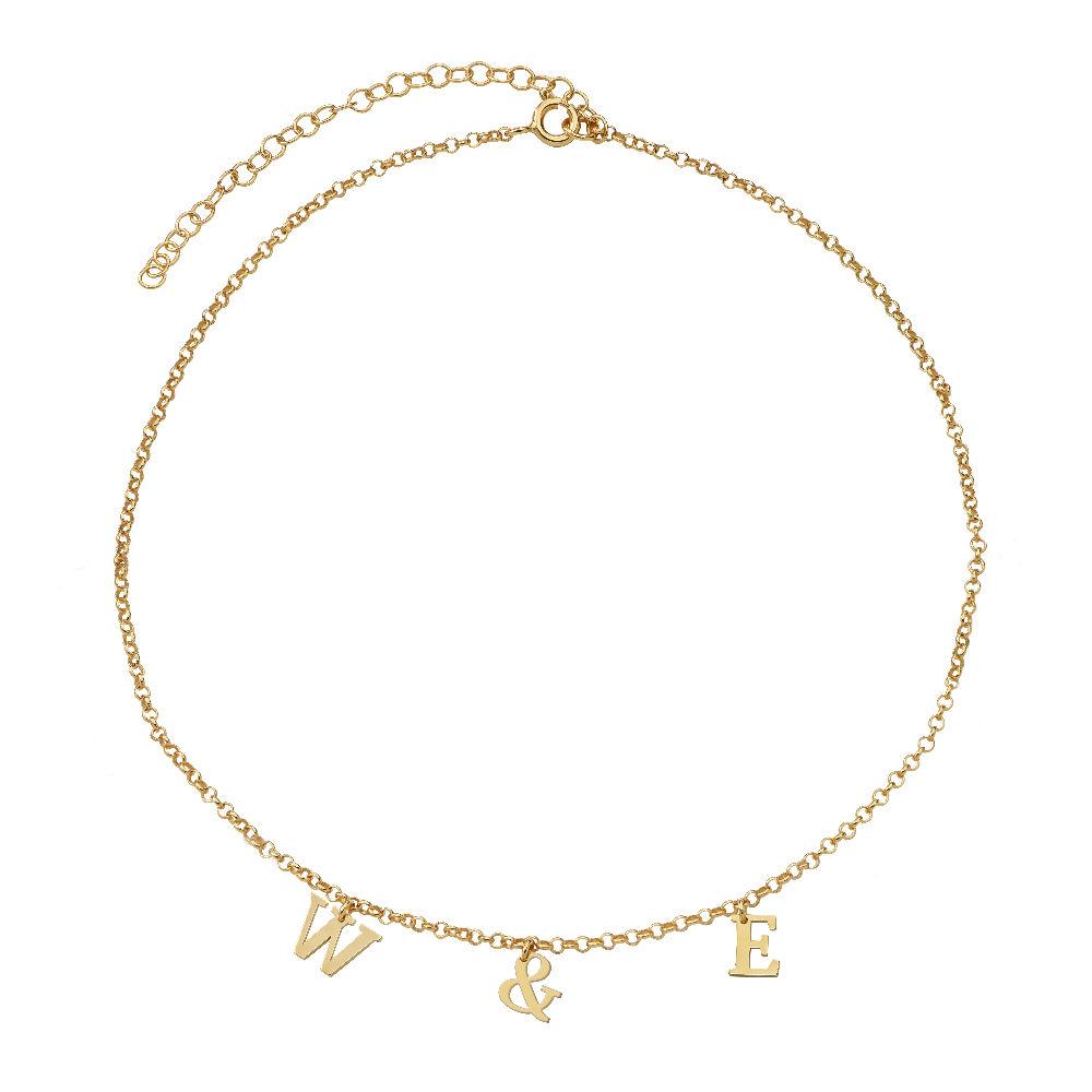 Choker-smykke med bokstav gull-vermeil - 1