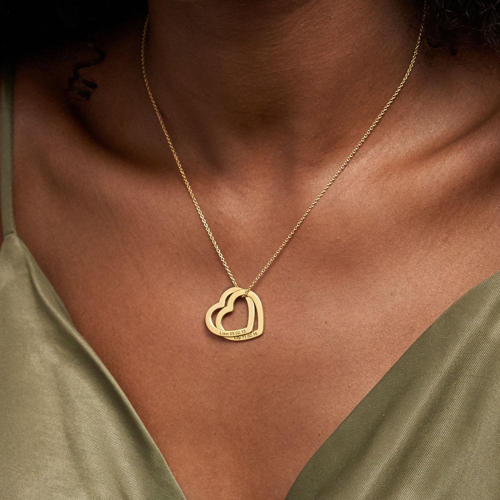 Sammenflettet hjertekjede i 18K gullbelegg - 3
