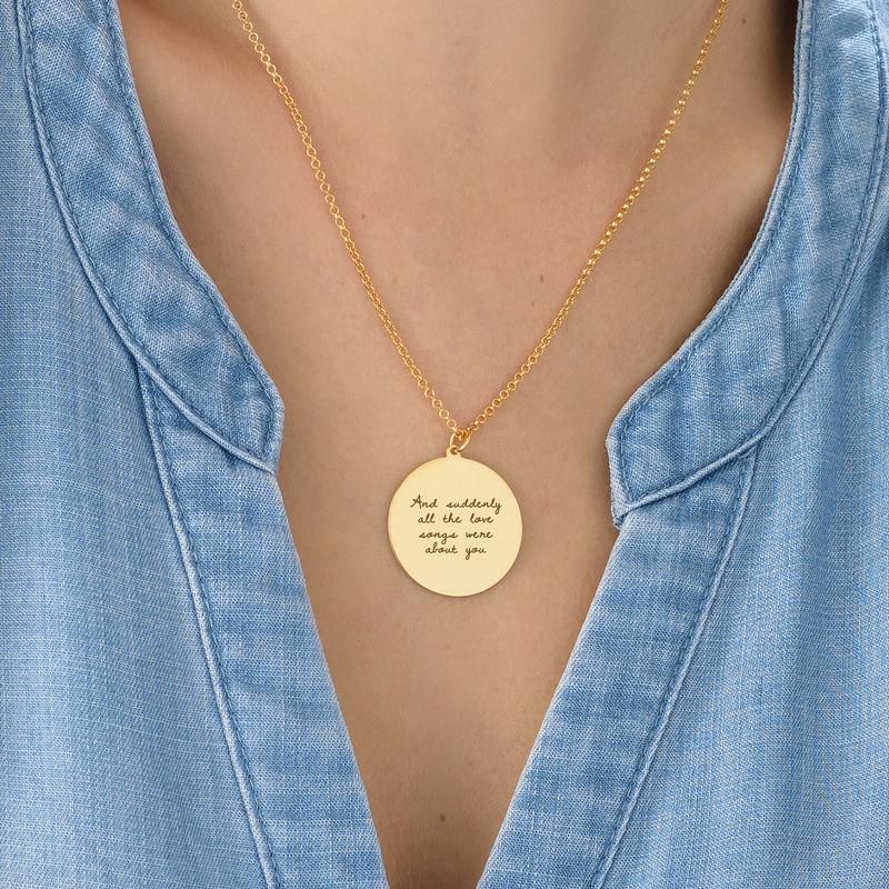 Gullbelagt medaljongsmykke med kjærlighetserklæring - 3