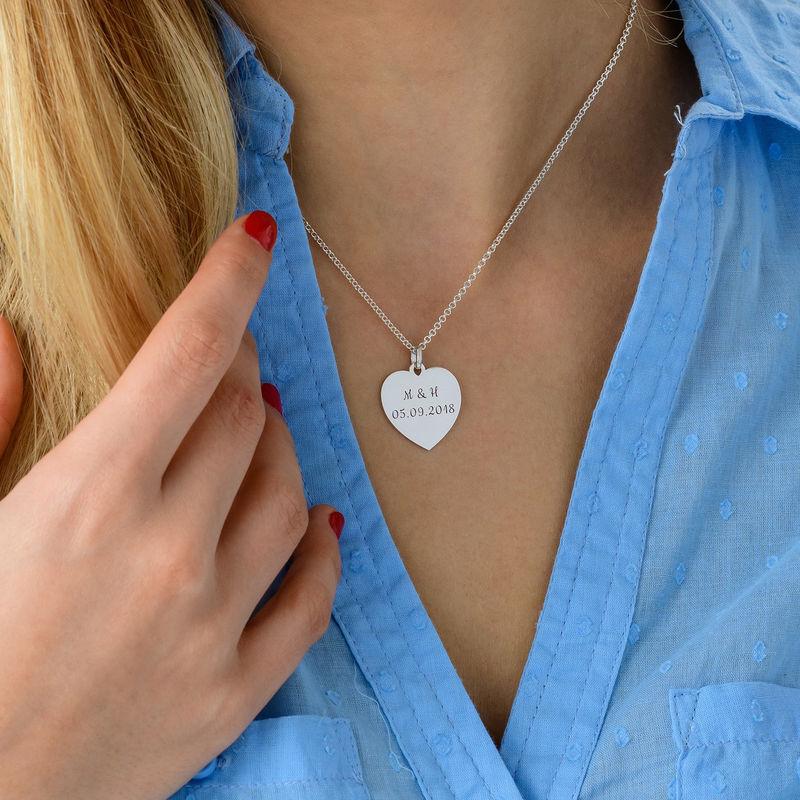 Hjertesmykke i sølv - 3