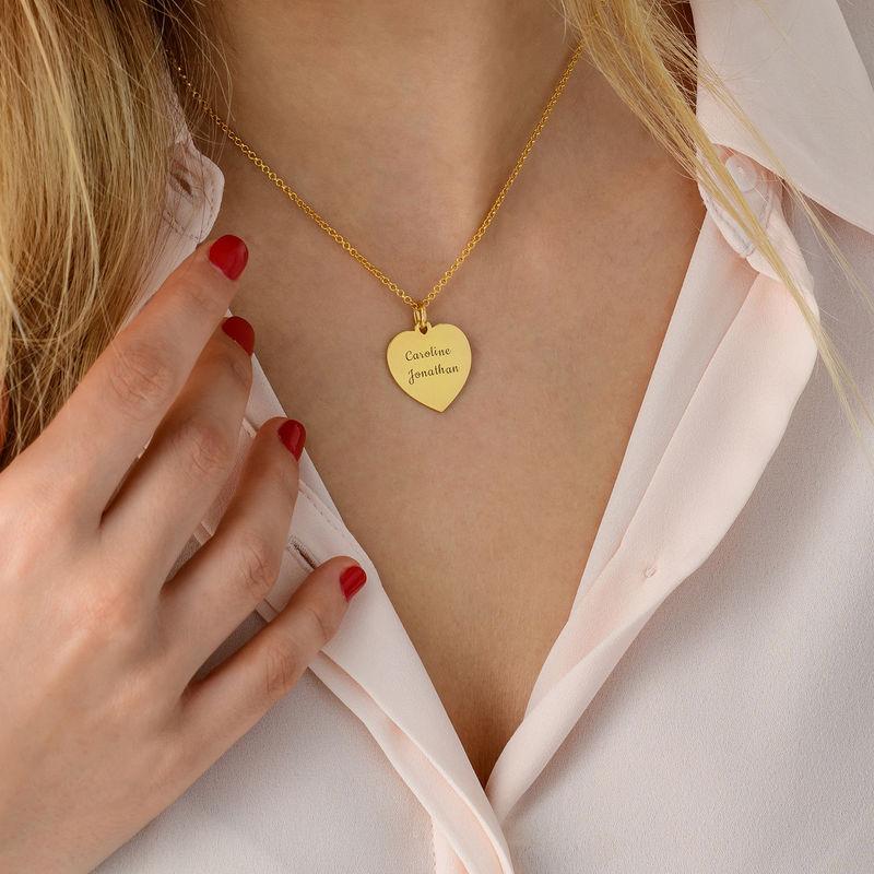 Hjertesmykke i gullforgylt sølv - 3