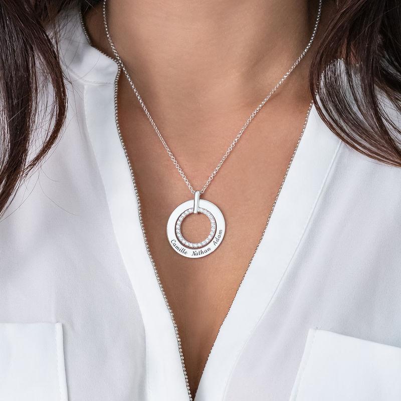 Gravert smykke med sirkel i sølv - 3