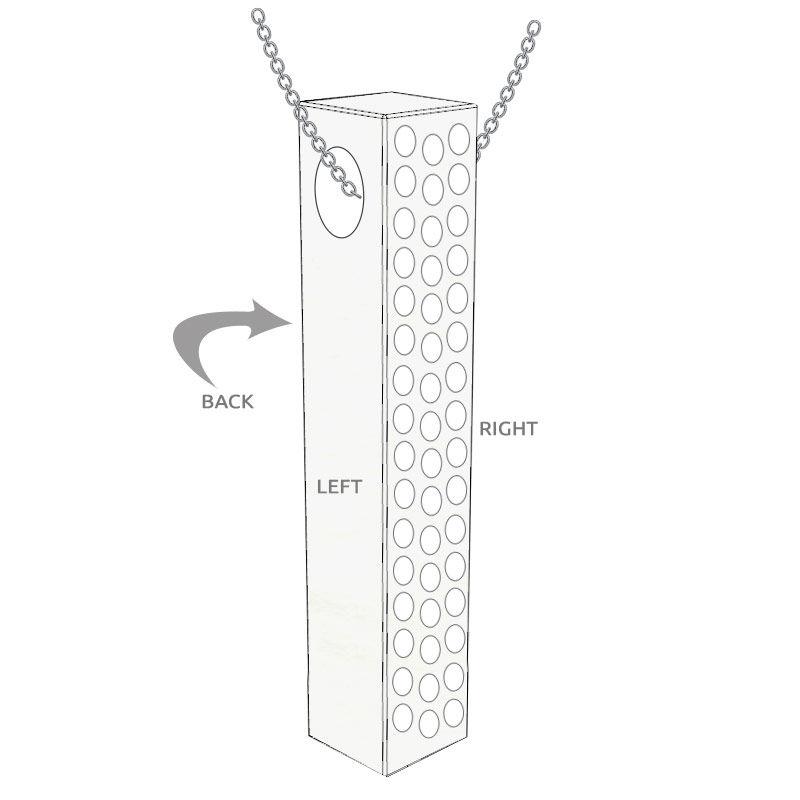 Vertikalt 3D-stavsmykke med cubic zirconia i sølv - 5