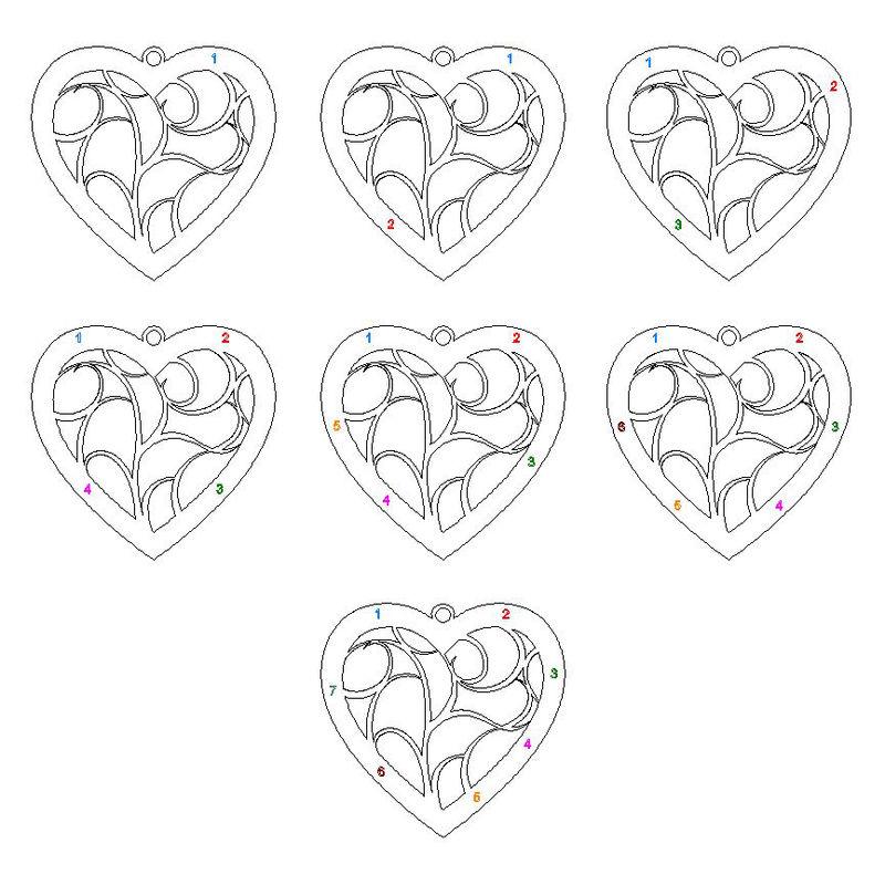 Livets tre smykke med hjerte i roseforgylt sølv - 7