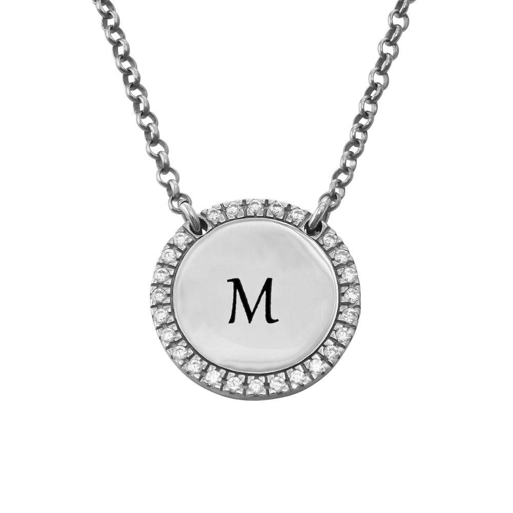 Personlig rundt cubic zirconia-smykke i sølv