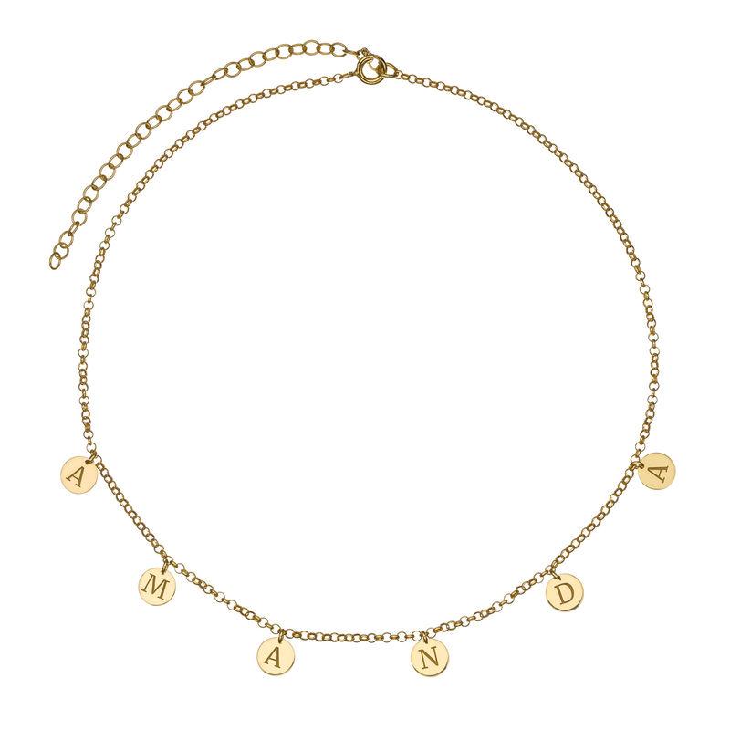 Choker-smykke med bokstav i gullbelegg - 1