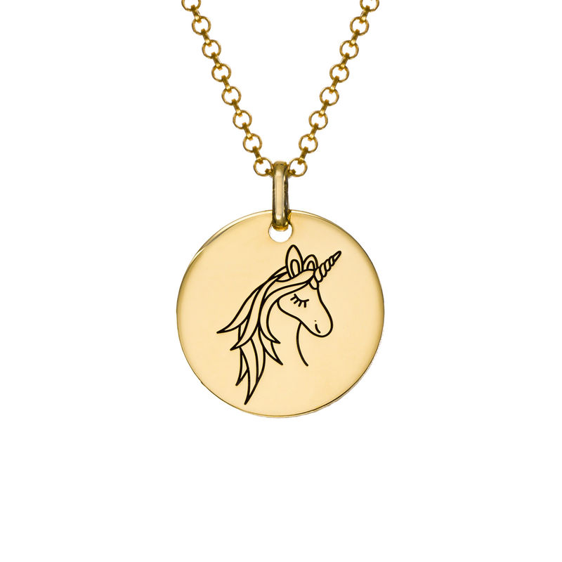 Gullbelagt enhjørning smykke