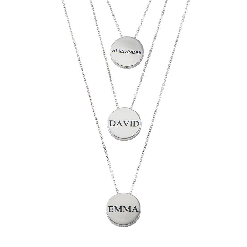 Personlig smykke med sirkel i sterlingsølv - 2