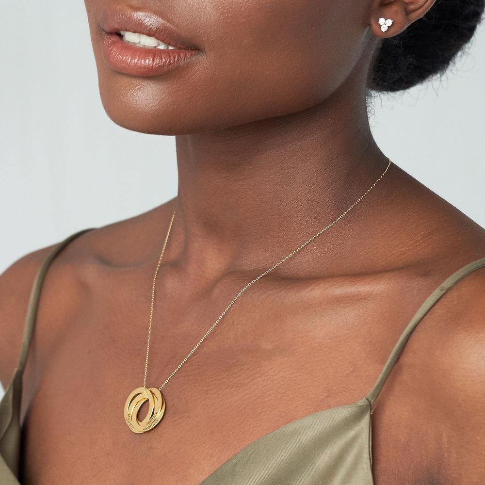 4 russiske ring halskjede i gullforgylt - 2