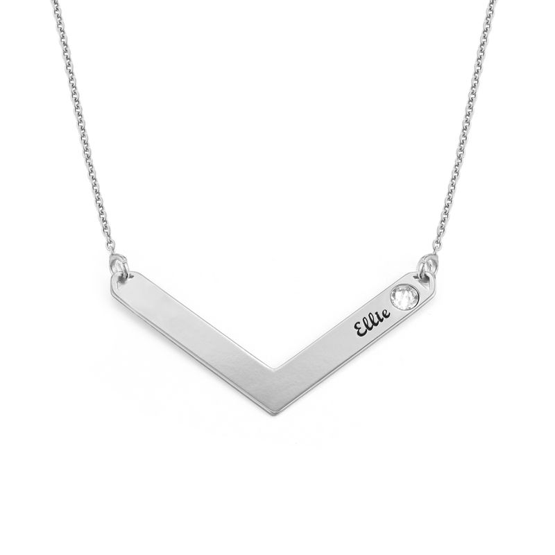 Personlig mamma smykke med Swarovski i sølv - 1