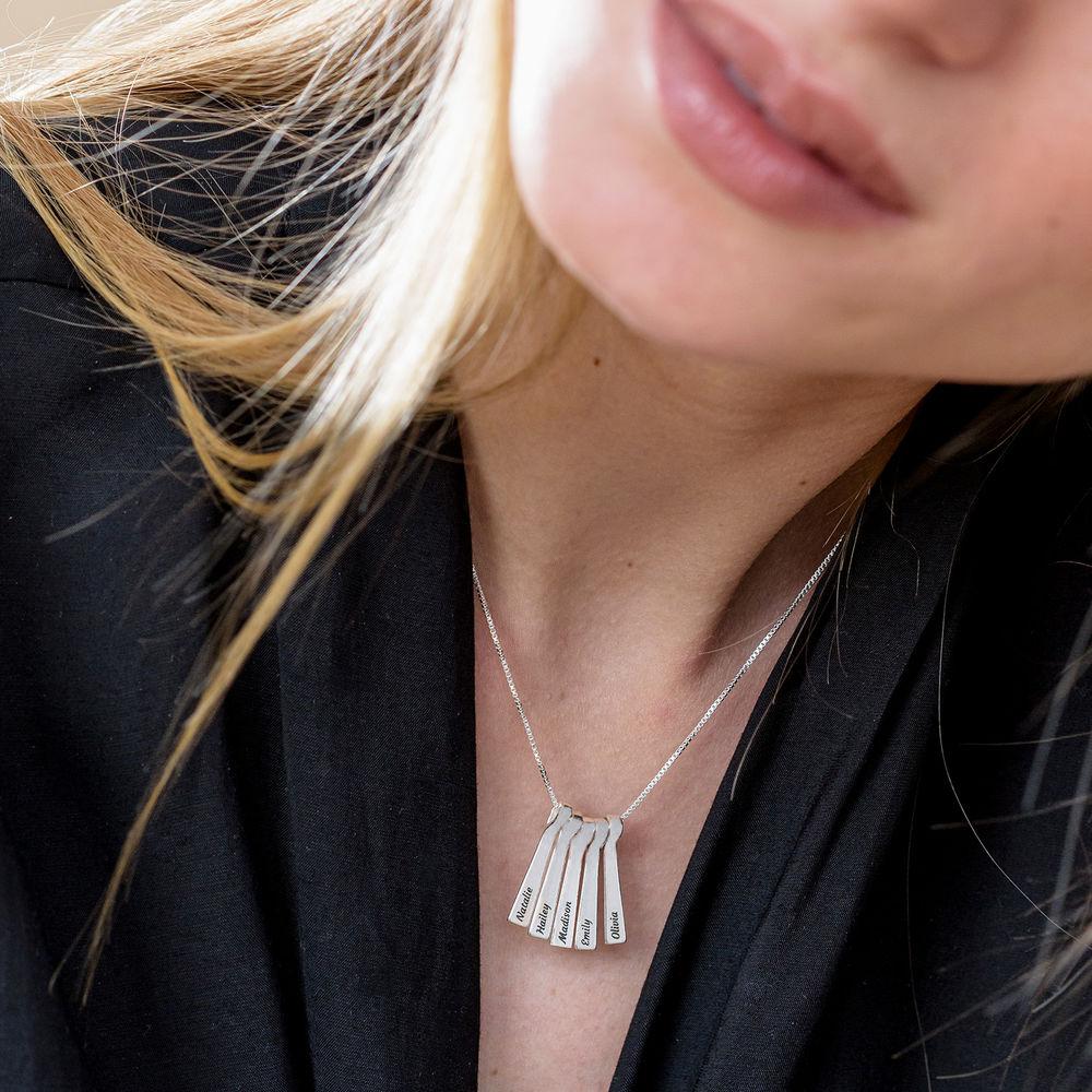 Xylofon stavsmykke halskjede med navn i sterling sølv - 4