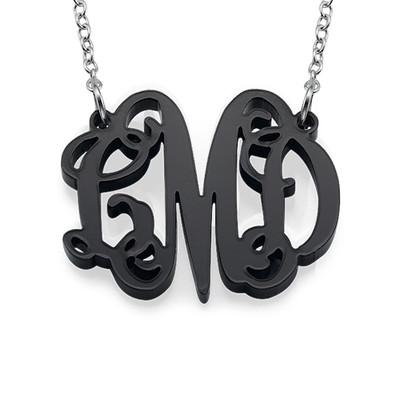 Kjendis monogram med halskjede I Acrylic - 1