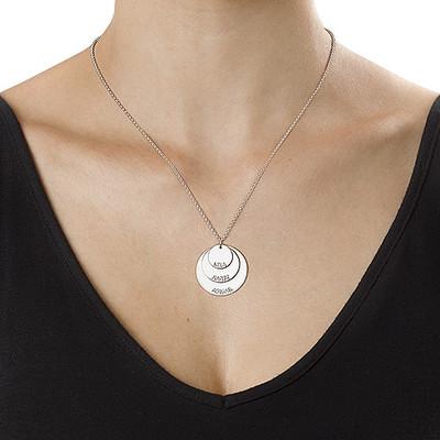 Mammasmykke i sølv med barnenavn - 2
