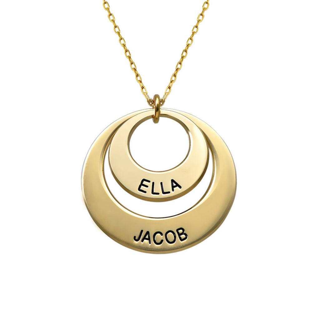 Smykke for mødre – Disk halskjede med 10k guld