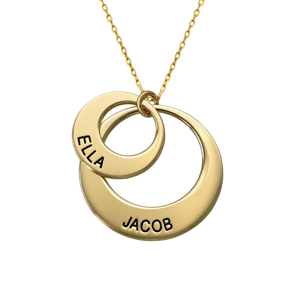 Smykke for mødre – Disk halskjede med 10k guld - 1