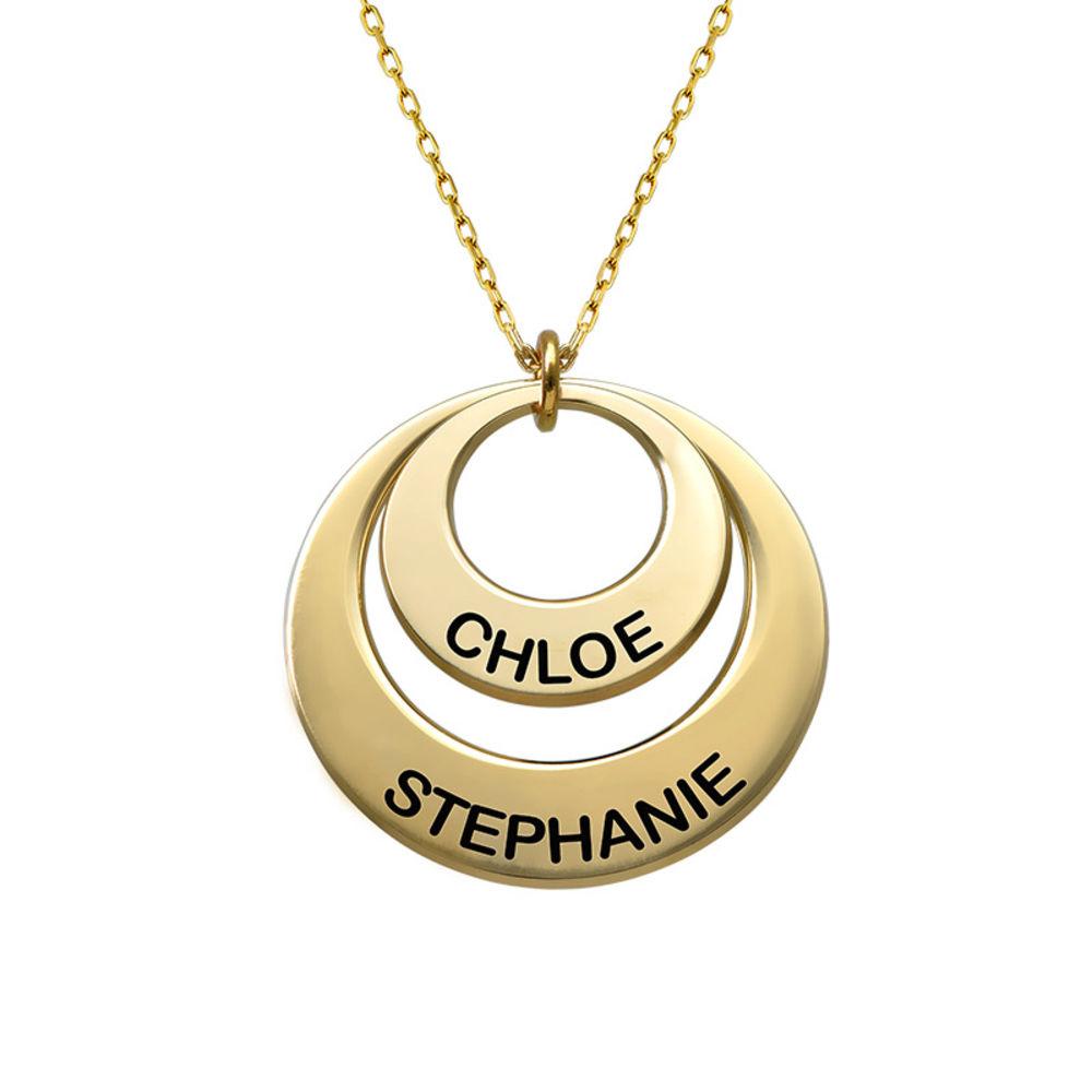 Smykke for mødre – Disk halskjede med 10k guld - 2