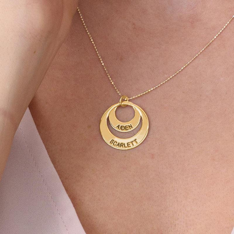 Smykke for mødre – Disk halskjede med 10k guld - 4