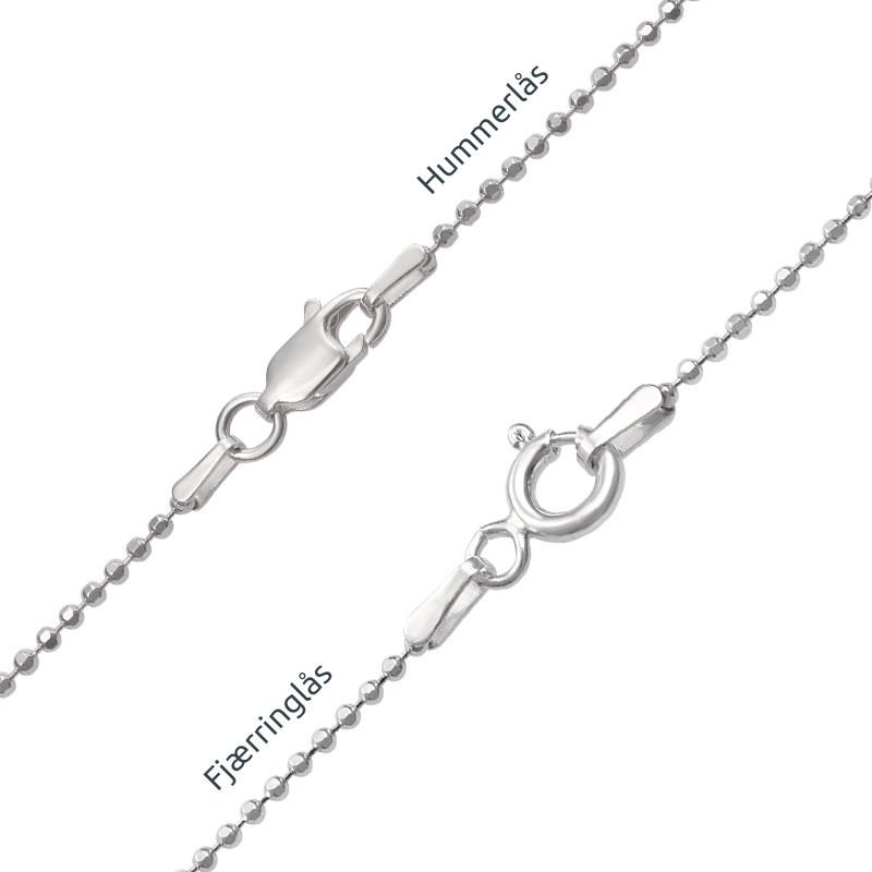 Personlig dog tag smykke i håndskriftstil i sølv - 4
