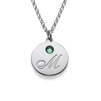 Mammasmykke med bokstaver og fødselssein i sølv - 1