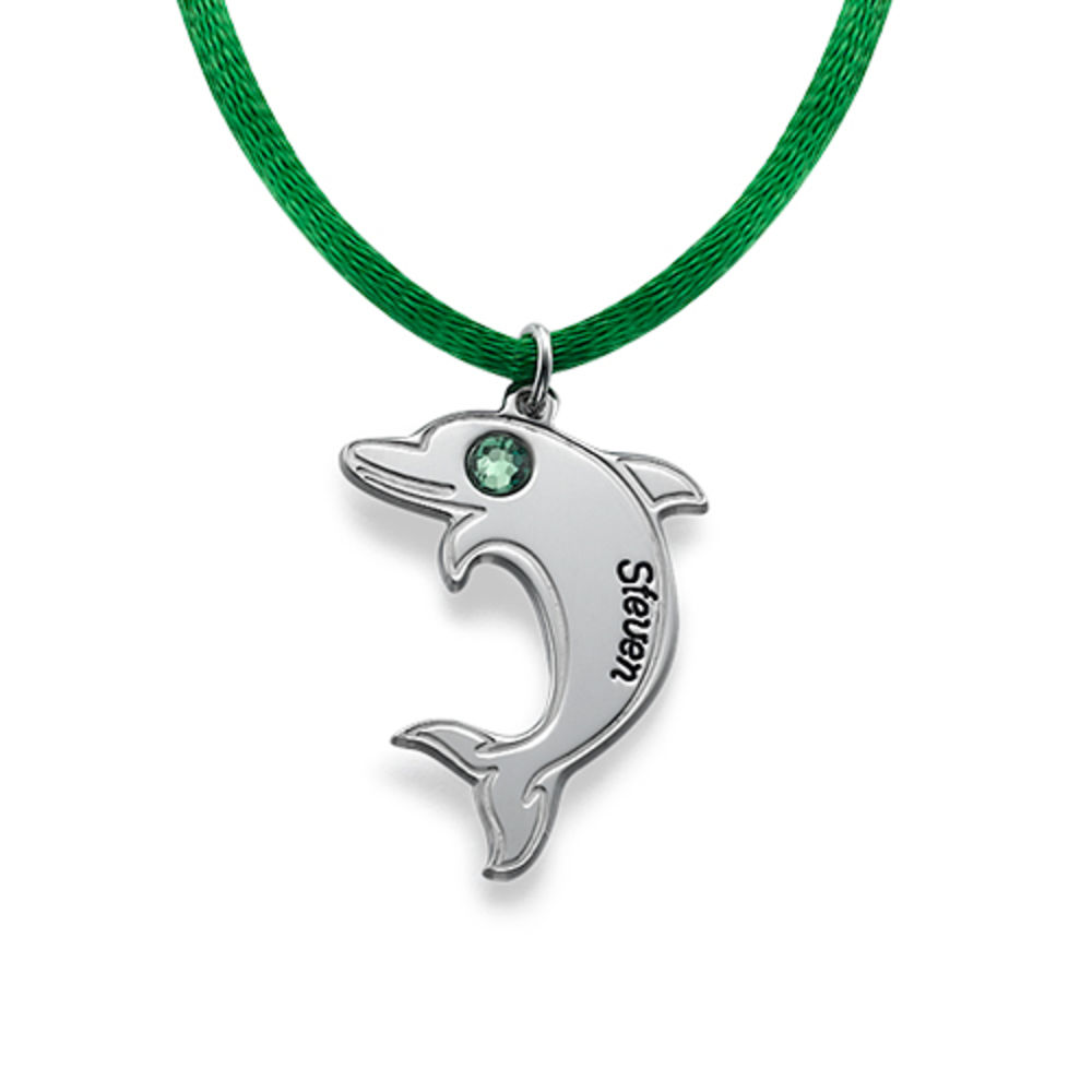 Delfin halskjede i sølv - 1