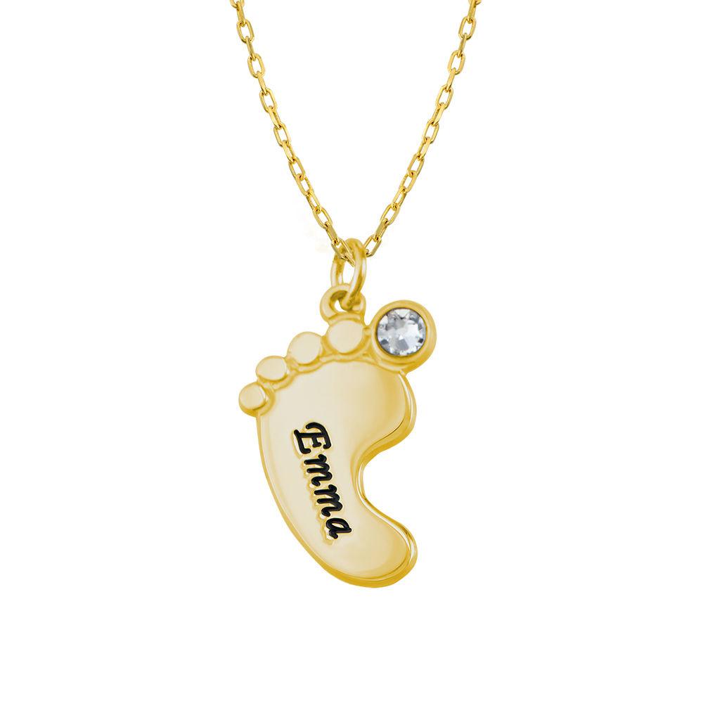Mammasmykke – halskjede med flere babyføtter i 10K gult gull - 3