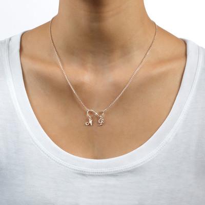 Infinitysmykke med Initialer i sølv - 1