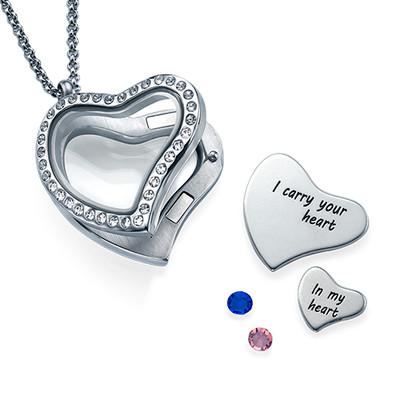 Jeg Bærer Ditt Hjerte Medaljong - 1