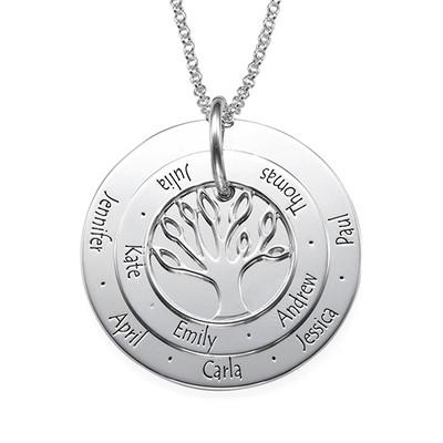 Personlig mamma smykke – Familietre halskjede