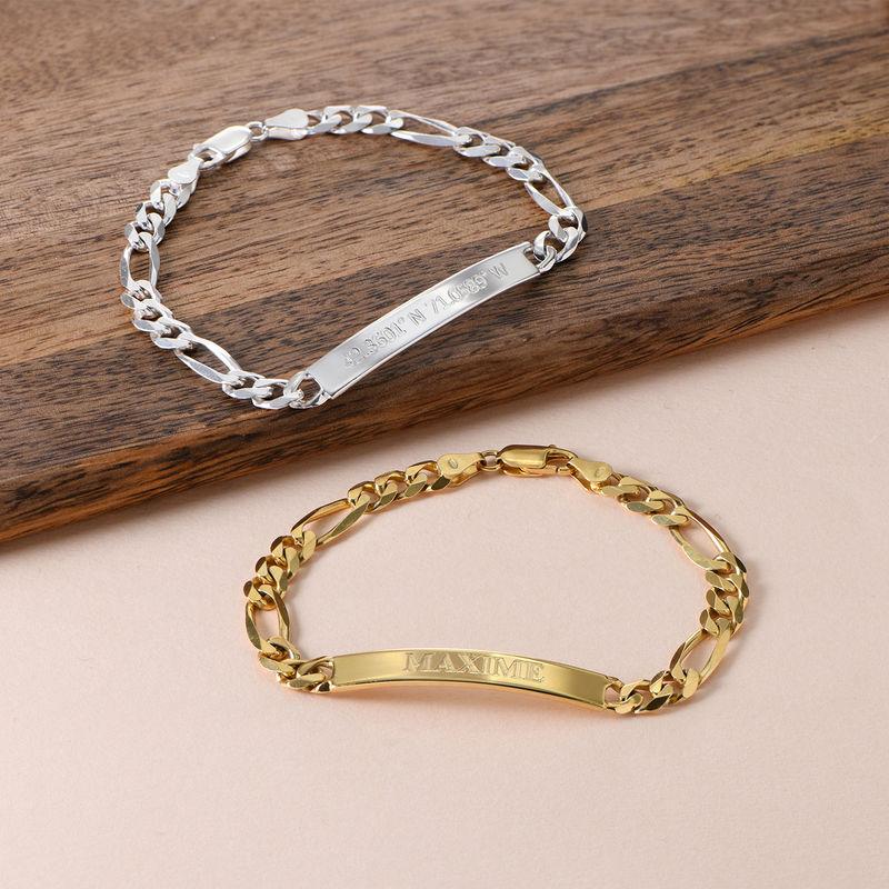 ID armbånd for menn med gullbelegg - 3